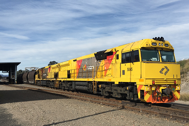 Loaded Aurizon coal train makes its first delivery for AGL